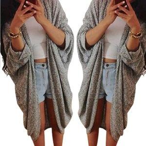 loose fit cardigan coat jacket